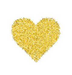 Glitter golden heart vector