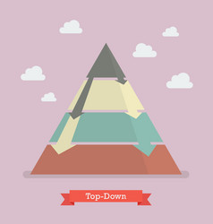 top-down pyramid business strategy vector image