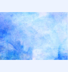 Blue watercolor background abstract hand vector
