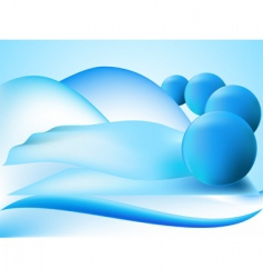 perspective balls vector image