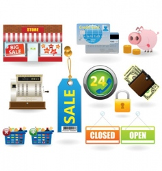 shopping icon set2 vector image
