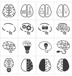 Set of brain icon vector