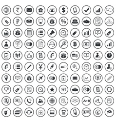 Business sign icons set vector