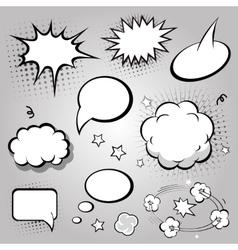 Comic Speech Bubbles Black and white vector image