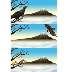 Wild birds on the branch vector