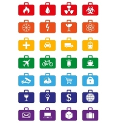 Logistics services colored icons set vector