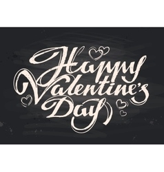 Happy valentines day handwritten inscription vector