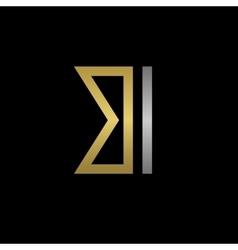 BI letters logo vector image