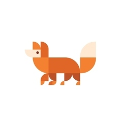 Fox animal orange design logo trends vector