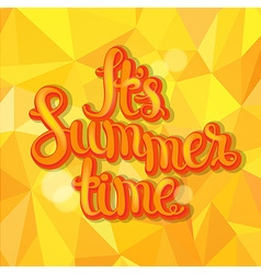 Summer triangle background vector image