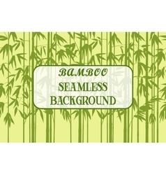 Seamless Background Bamboo Silhouettes vector image