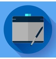 Graphic tablet icon CG artist and Designer symbol vector image