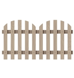 Wooden seamless fence rounded shape isolated vector