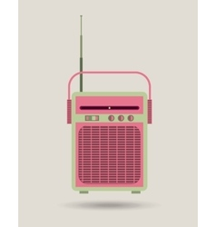 Radio icon retro and music design graphic vector