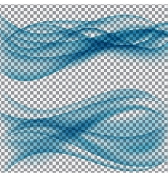 Abstract Wave on Transparent Background vector image