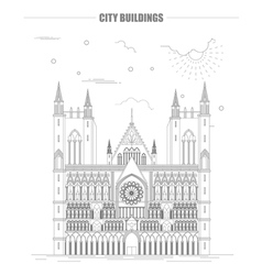City buildings graphic template Nidarsdom vector image vector image