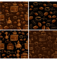 coffee handdraw set seaml 380 vector image vector image