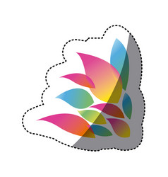 color pointed petals icon vector image