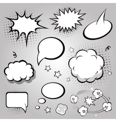 Comic Speech Bubbles Black and white vector image vector image