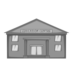 Education centre icon gray monochrome style vector