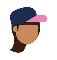 Faceless woman avatar icon image vector