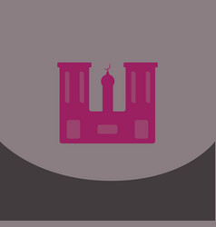 flat icon on grey square arabic mosque with the vector image vector image