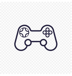 game controller line icon gamepad thin linear vector image