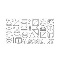 Geometry concept line horizontal banner vector