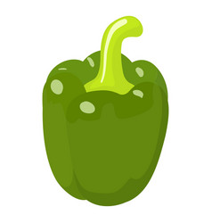 green pepper icon isometric 3d style vector image