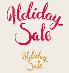 Holiday sale hand drawn lettering vector
