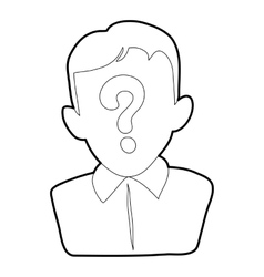 Man question icon outline style vector image