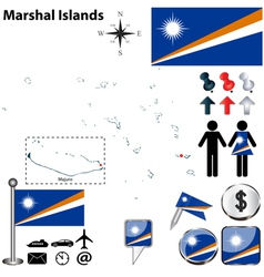 Marshal islands map vector