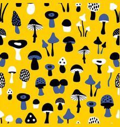 Mushroom yellow pattern vector