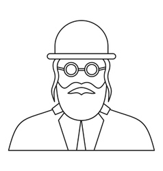 Orthodox jew icon outline style vector