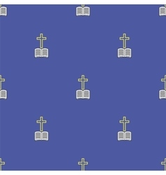 Religion Icons Seamless Pattern vector image