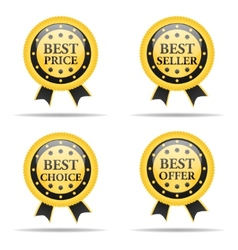 Set of Commercial badges vector image