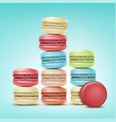 Set of macarons vector