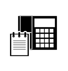 Telephone and notepad icon vector
