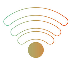 Wifi signal icon in degraded green to red color vector