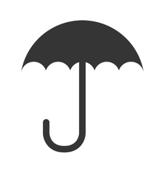 Umbrella handle weather design isolated vector