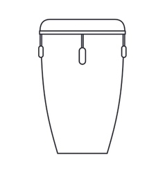 Isolated drum instrument design vector