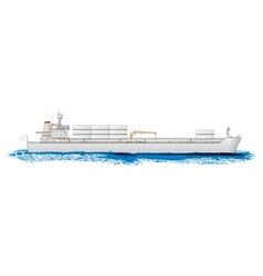 Cargo ship vector image