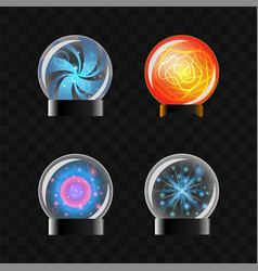 Fortune sphere - set of magical balls clip vector