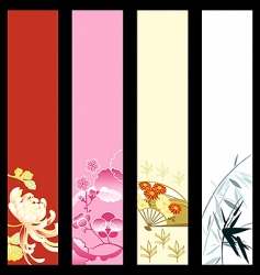 Asian art banners vector image