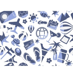 blue travel seamless pattern vector image