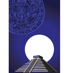 aztec temple vector image