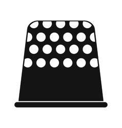 Thimble black simple icon vector