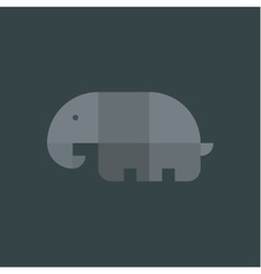 Elephant geometric logo drawn from vector image