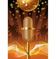 Summer disco night vector