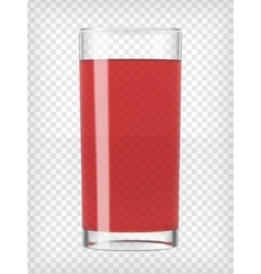 Red fruit juice in a glass vector
